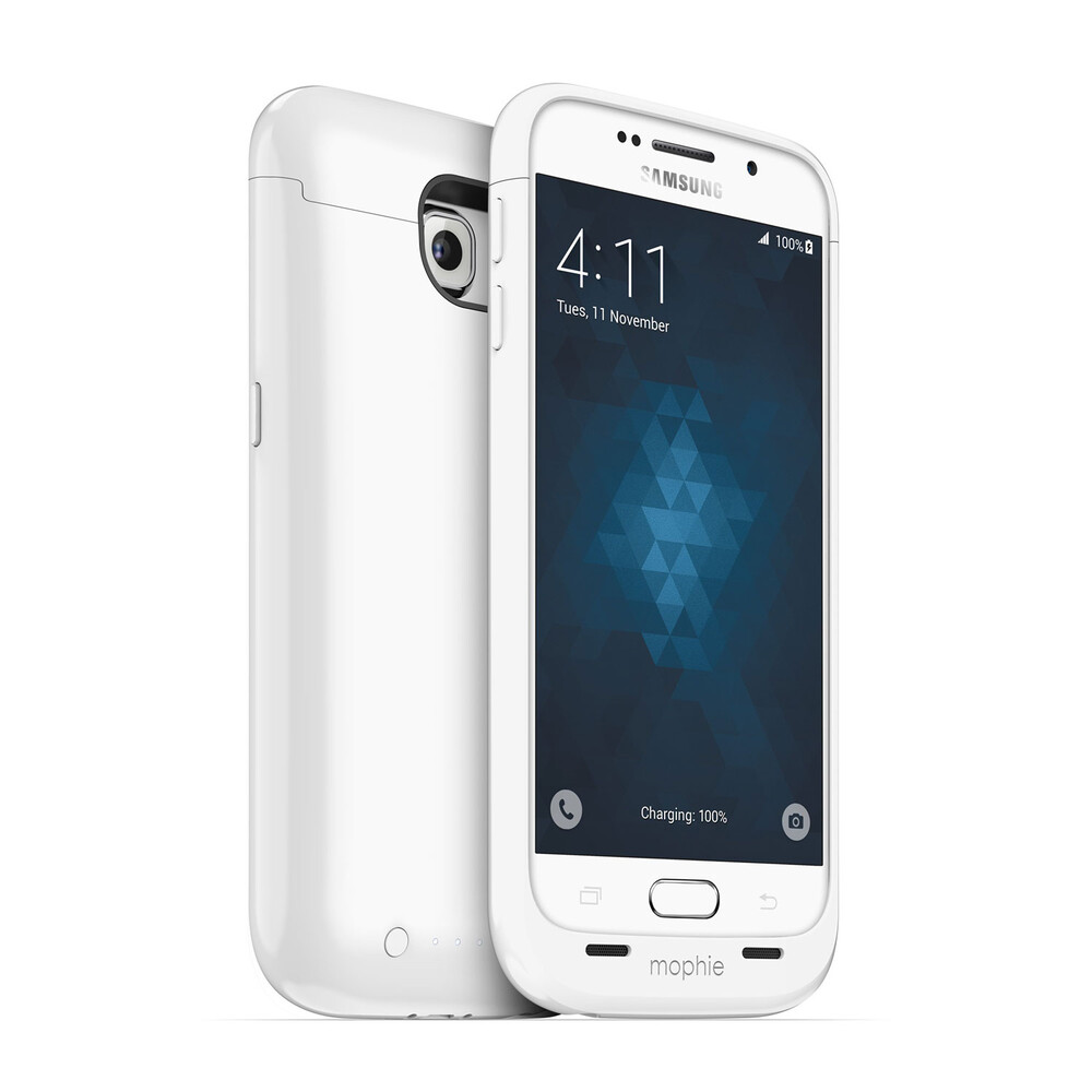 Чехол-аккумулятор Mophie Juice Pack Gloss White для Samsung Galaxy S6