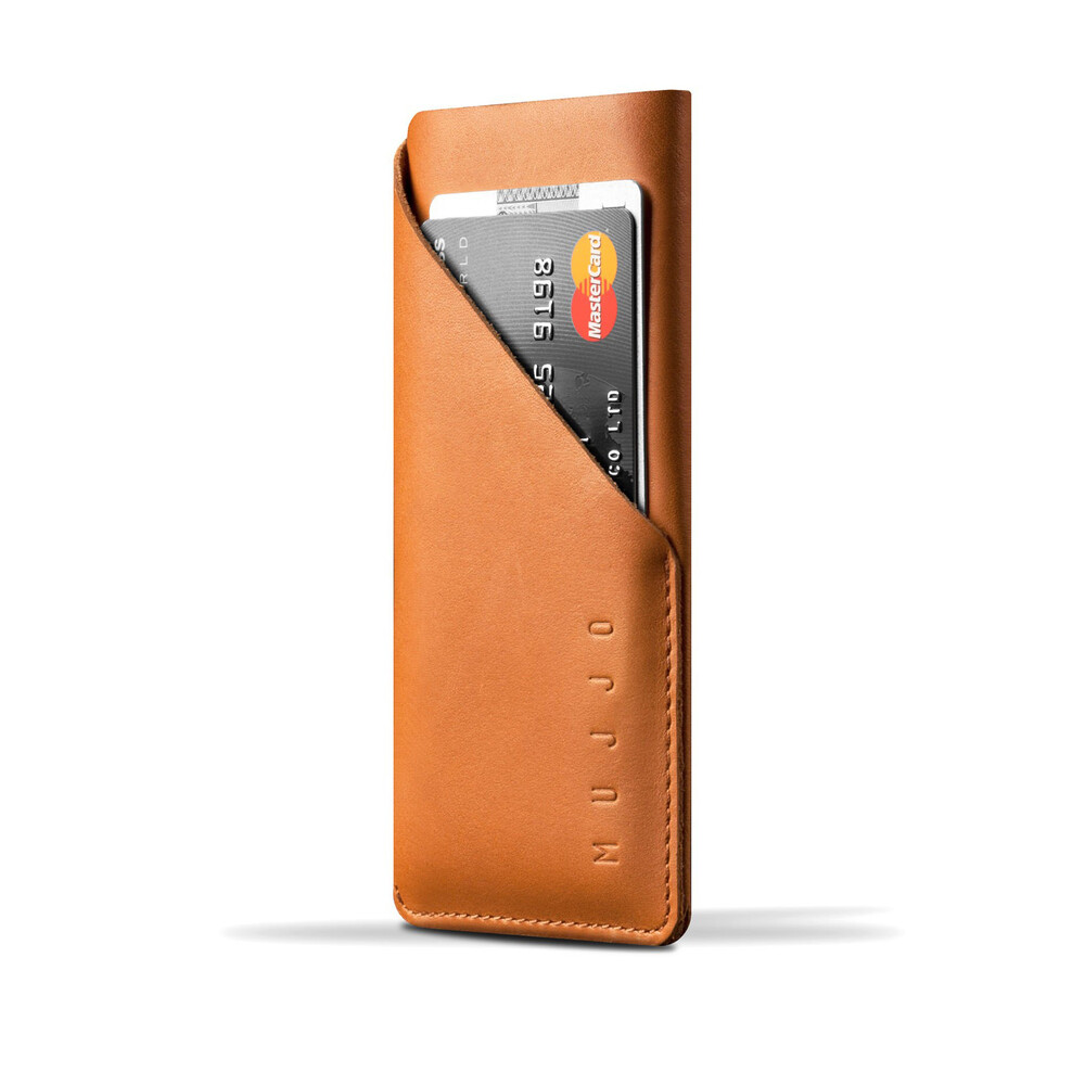 Чехол-карман MUJJO Leather Wallet Sleeve Tan для iPhone 6/6s/7/8