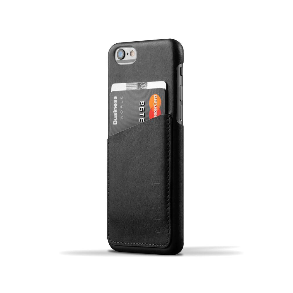 Чехол MUJJO Leather Wallet Case Black для iPhone 6/6s