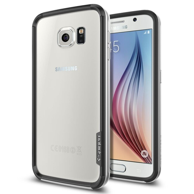 Бампер Spigen Neo Hybrid EX Satin Silver для Samsung Galaxy S6