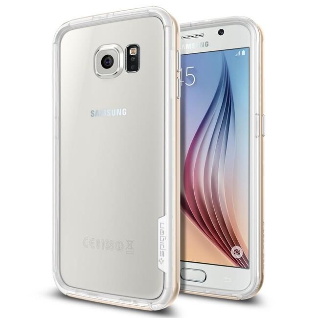Бампер Spigen Neo Hybrid EX Champagne Gold для Samsung Galaxy S6