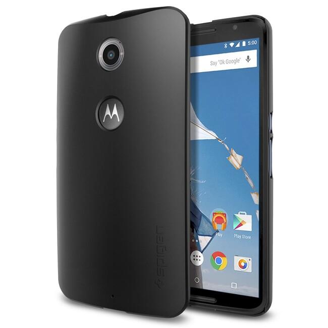 Чехол Spigen Thin Fit Smooth Black для Motorola Nexus 6