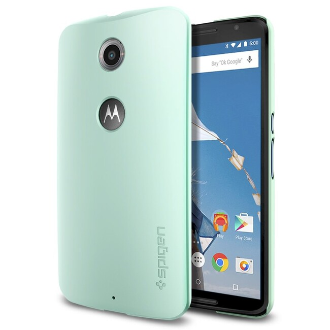Чехол Spigen Thin Fit Mint для Motorola Nexus 6