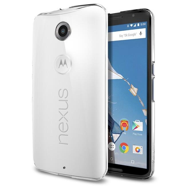 Чехол Spigen Thin Fit Crystal Clear для Motorola Nexus 6