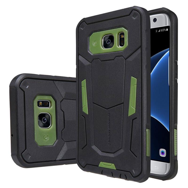 Противоударный защитный чехол Nillkin Defender 2 Green для Samsung Galaxy S7 edge