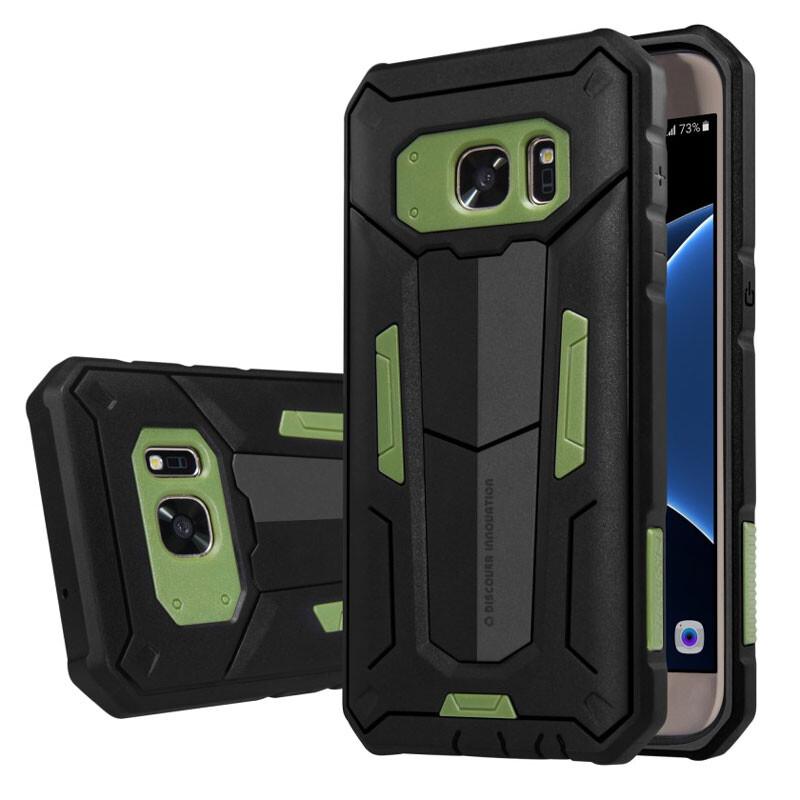 Противоударный защитный чехол Nillkin Defender 2 Green для Samsung Galaxy S7