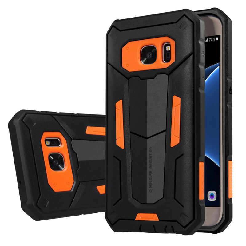 Противоударный защитный чехол Nillkin Defender 2 Orange для Samsung Galaxy S7