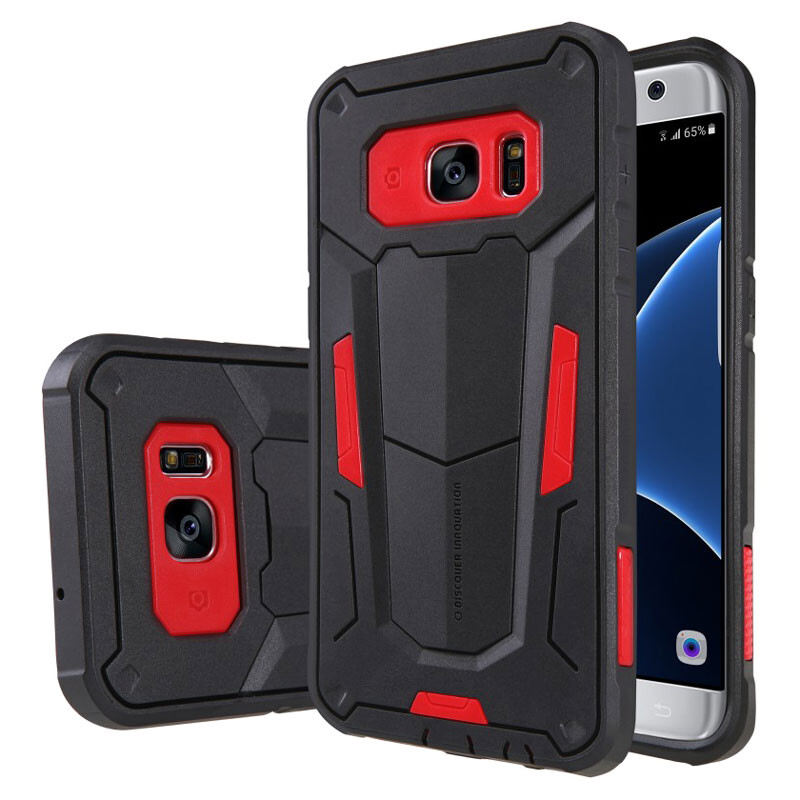 Противоударный защитный чехол Nillkin Defender 2 Red для Samsung Galaxy S7 edge
