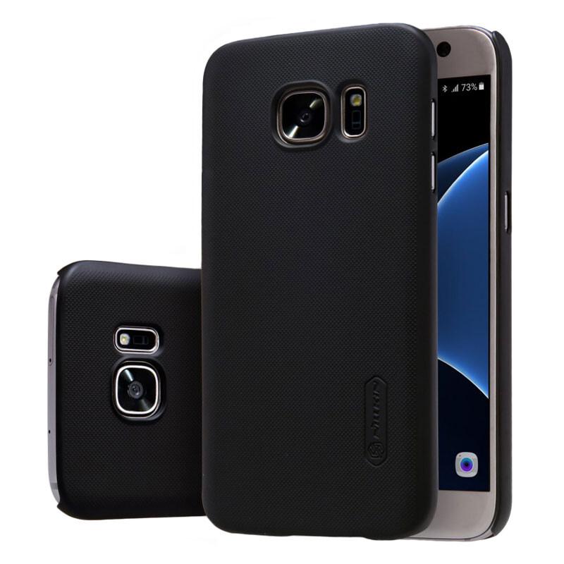 Черный пластиковый чехол Nillkin Frosted Shield для Samsung Galaxy S7