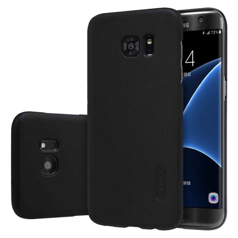 Черный пластиковый чехол Nillkin Frosted Shield для Samsung Galaxy S7 edge