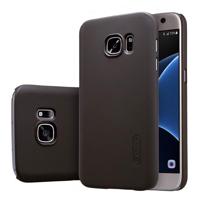 Коричневый пластиковый чехол Nillkin Frosted Shield для Samsung Galaxy S7