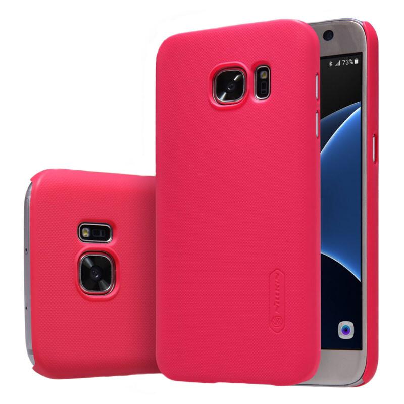Ярко-розовый пластиковый чехол Nillkin Frosted Shield для Samsung Galaxy S7