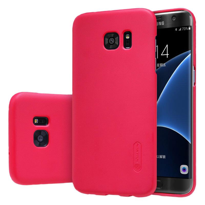 Ярко-розовый пластиковый чехол Nillkin Frosted Shield для Samsung Galaxy S7 edge