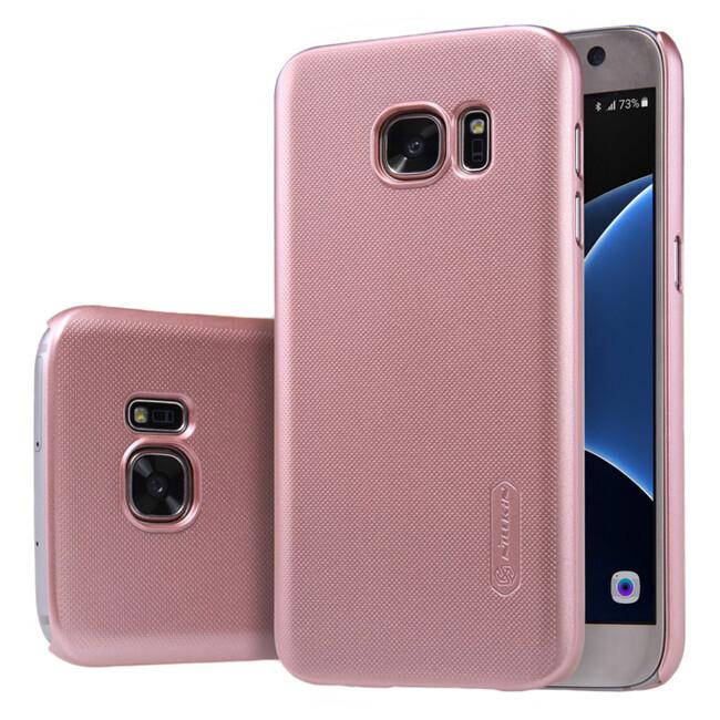 Розовый пластиковый чехол Nillkin Frosted Shield для Samsung Galaxy S7