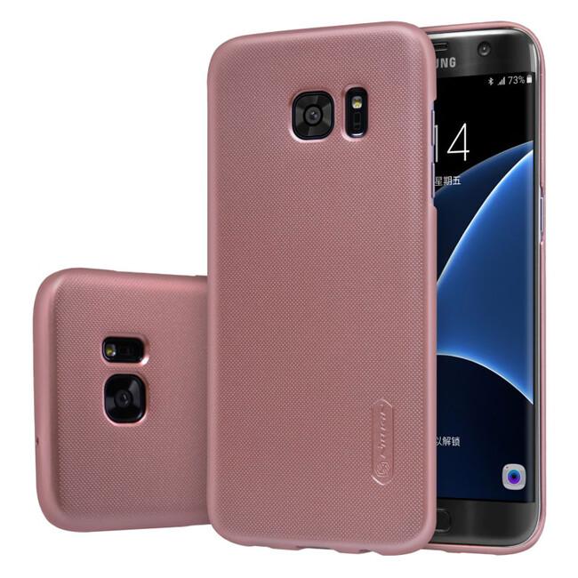 Розовый пластиковый чехол Nillkin Frosted Shield для Samsung Galaxy S7 edge