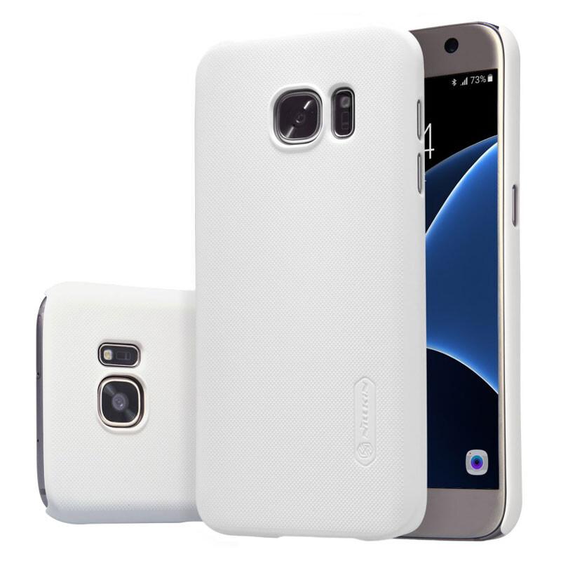Белый пластиковый чехол Nillkin Frosted Shield для Samsung Galaxy S7