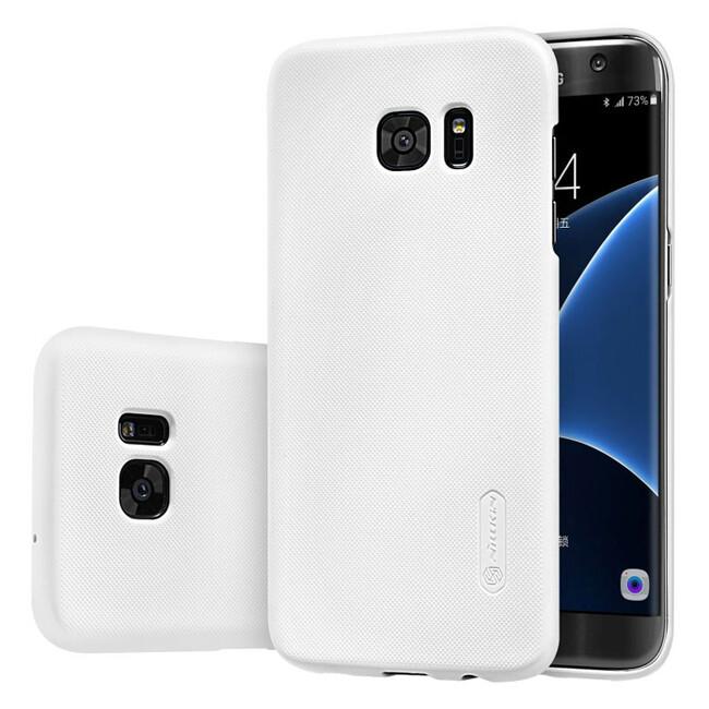 Белый пластиковый чехол Nillkin Frosted Shield для Samsung Galaxy S7 edge