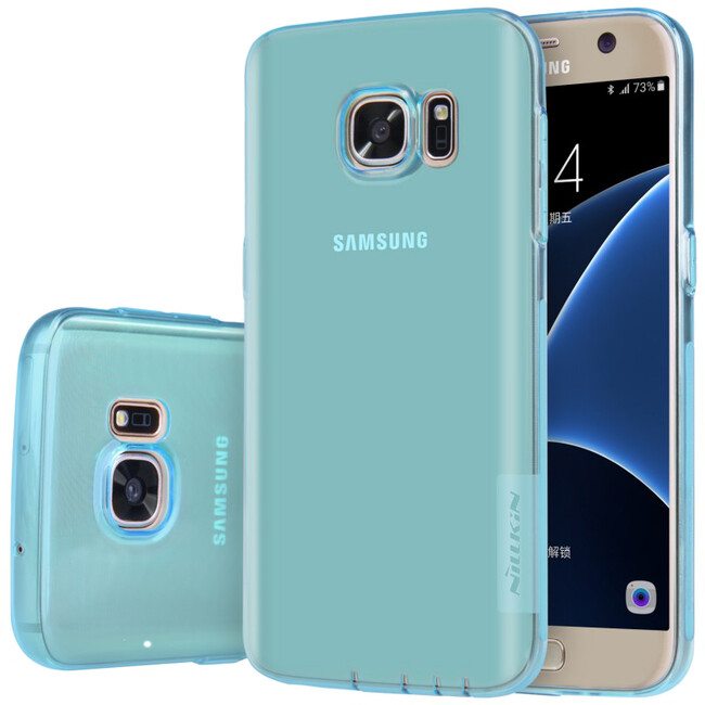 Голубой TPU чехол Nillkin Nature для Samsung Galaxy S7