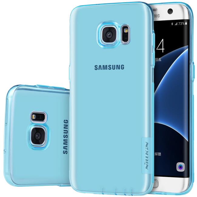 Голубой TPU чехол Nillkin Nature для Samsung Galaxy S7 edge