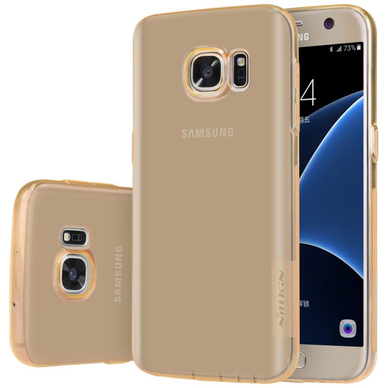 Золотой TPU чехол Nillkin Nature для Samsung Galaxy S7