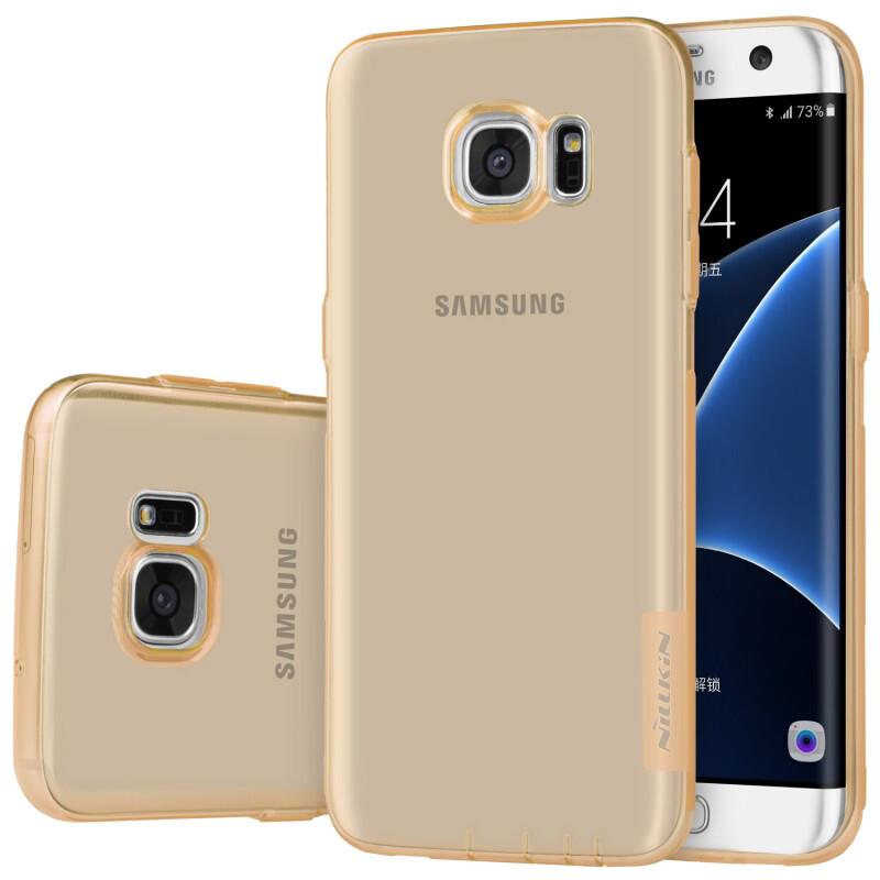 Золотой TPU чехол Nillkin Nature для Samsung Galaxy S7 edge