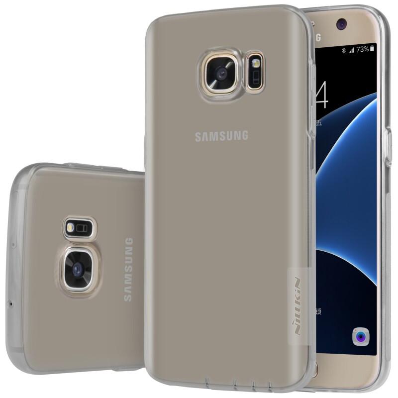 Серый TPU чехол Nillkin Nature для Samsung Galaxy S7