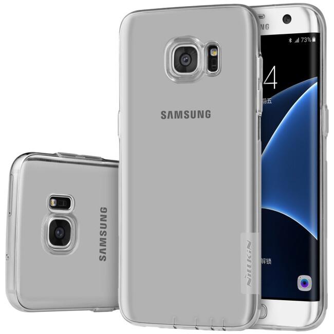 Серый TPU чехол Nillkin Nature для Samsung Galaxy S7 edge