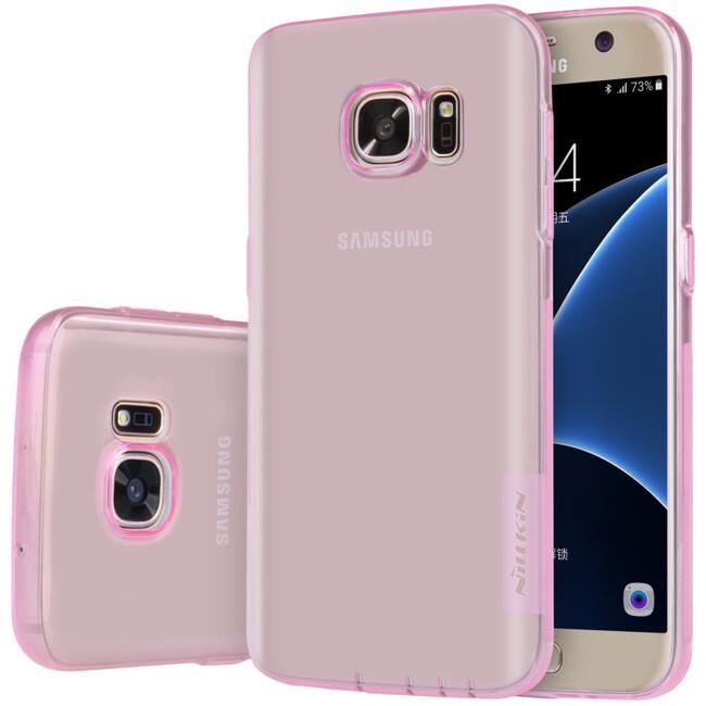 Розовый TPU чехол Nillkin Nature для Samsung Galaxy S7