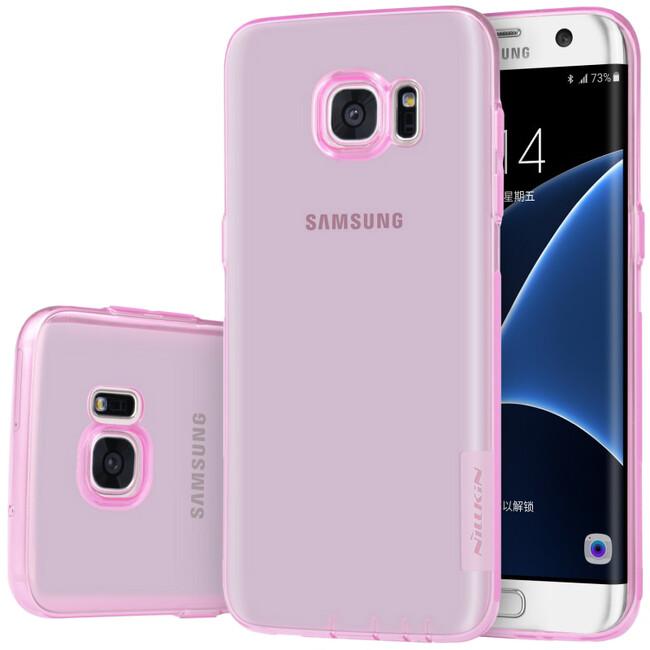 Розовый TPU чехол Nillkin Nature для Samsung Galaxy S7 edge
