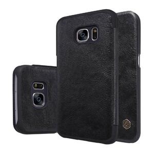 Купить Кожаный флип-чехол Nillkin Qin Series Черный для Samsung Galaxy S7