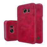 Кожаный флип-чехол Nillkin Qin Series Красный для Samsung Galaxy S7