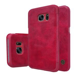 Купить Кожаный флип-чехол Nillkin Qin Series Красный для Samsung Galaxy S7