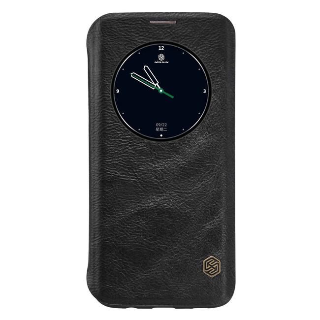 Кожаный флип-чехол Nillkin Qin Series Черный для Samsung Galaxy S7 edge