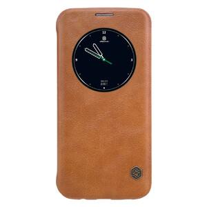 Купить Кожаный флип-чехол Nillkin Qin Series Коричневый для Samsung Galaxy S7 edge
