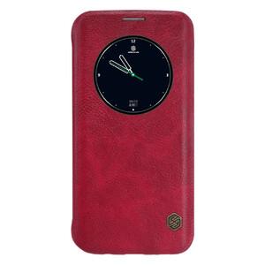 Купить Кожаный флип-чехол Nillkin Qin Series Красный для Samsung Galaxy S7 edge