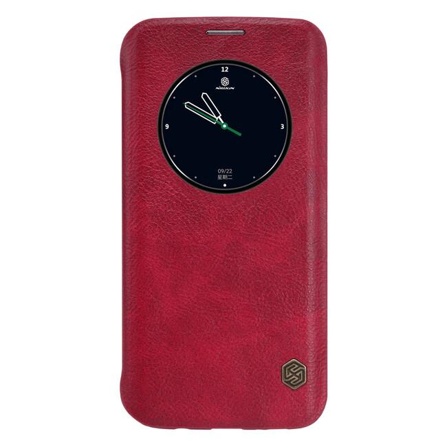 Кожаный флип-чехол Nillkin Qin Series Красный для Samsung Galaxy S7 edge