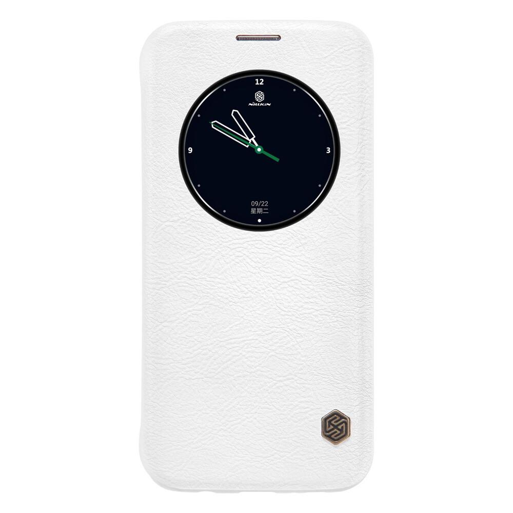 Кожаный флип-чехол Nillkin Qin Series Белый для Samsung Galaxy S7 edge