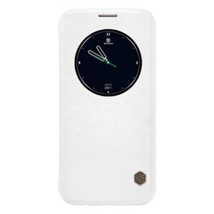 Купить Кожаный флип-чехол Nillkin Qin Series Белый для Samsung Galaxy S7 edge