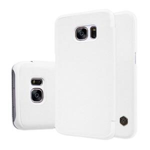 Купить Кожаный флип-чехол Nillkin Qin Series Белый для Samsung Galaxy S7