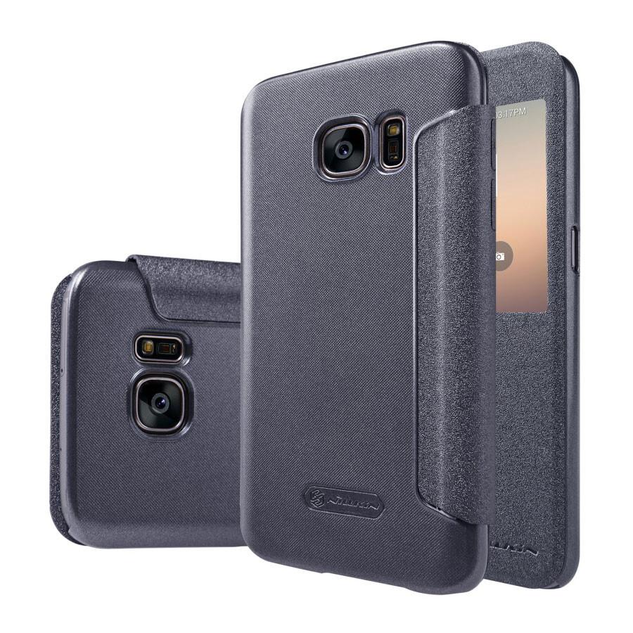 Чехол с окошком Nillkin Sparkle Серый для Samsung Galaxy S7