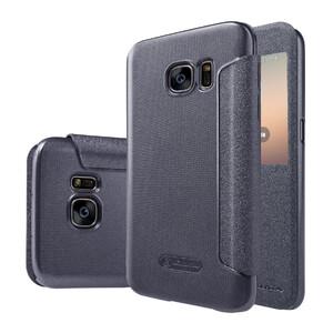 Купить Чехол с окошком Nillkin Sparkle Серый для Samsung Galaxy S7