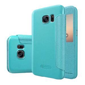 Купить Чехол с окошком Nillkin Sparkle Голубой для Samsung Galaxy S7