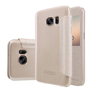 Купить Чехол с окошком Nillkin Sparkle Золотой для Samsung Galaxy S7