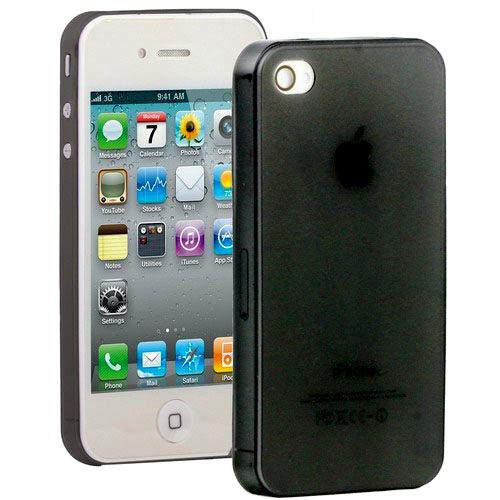 Черный ультратонкий чехол O'Thinner 0.3mm для iPhone 4/4S