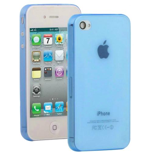 Синий ультратонкий чехол O'Thinner 0.3mm для iPhone 4/4S