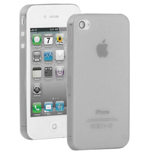 Серый ультратонкий чехол O'Thinner 0.3mm для iPhone 4/4S