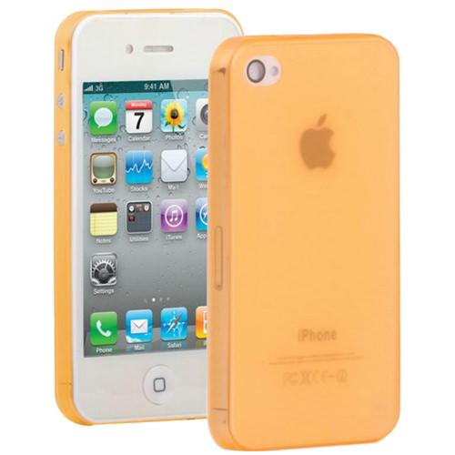 Оранжевый ультратонкий чехол O'Thinner 0.3mm для iPhone 4/4S