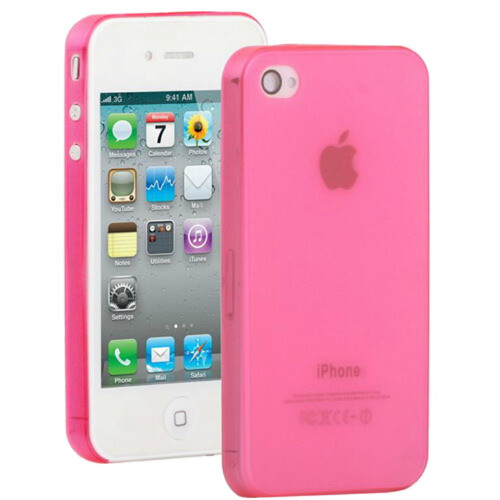 Розовый ультратонкий чехол O'Thinner 0.3mm для iPhone 4/4S