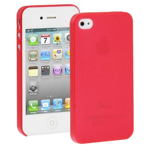 Красный ультратонкий чехол O'Thinner 0.3mm для iPhone 4/4S