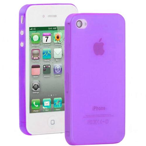 Фиолетовый ультратонкий чехол O'Thinner 0.3mm для iPhone 4/4S